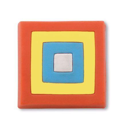 dětská knopka ČTVEREC multicolor