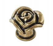 Zvětšit fotografii - Knopka růže 33mm, staromosaz