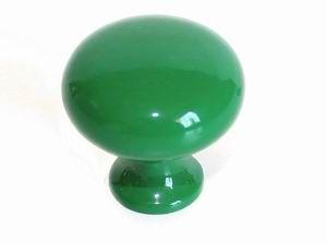 Knopka kovová zelená pr.30mm