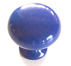 Knopka kovová modrá pr.30mm