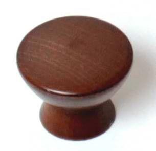 KD33 Knopka 33mm dřevo-ořech tmavý