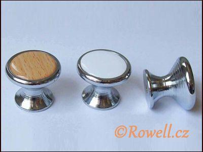 Z28 knopka pr.28 stříbr/dřevo