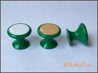 Z28 knopka pr.28 zelená/dřevo